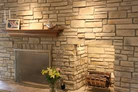 Home Stones Decoration Deco Adorable Stacked Fireplace Deco Introducing Appealing