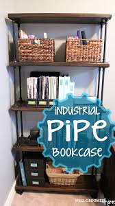 How To Make A Pipe Bookshelf Industrial Pipe Bookcase Well Groomed Home