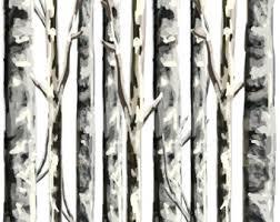 birch tree wrapping paper birch tree etsy
