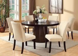 innovative ideas round espresso dining table pretentious design