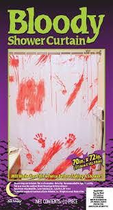 bloody shower curtain halloween