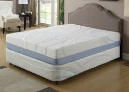bedroom full size memory foam mattress with brown headboard and