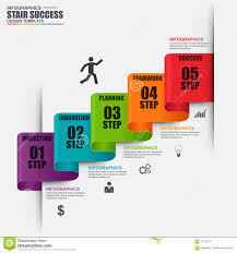Stair Elements by Infographic Staircase Step Vector Design Template Stock Vector