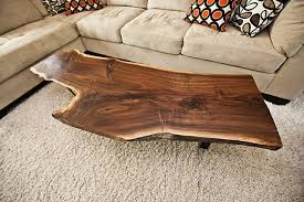 Rustic Living Room Table Sets Awesome Live Edge Wood Slab Pipe Coffee Table In Rustic Living