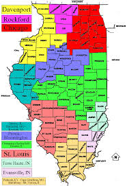 Maps Of Illinois by Tv Market Maps