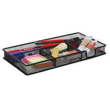 Desk Drawer Organizer by 4 Compartment Black Metal Wire Office Desk Drawer Organizer Tray
