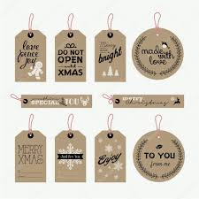 set of christmas and new year gift tags u2014 stock vector variant