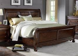 sinclair bedroom set with solid poplar wood and rustic russet finish