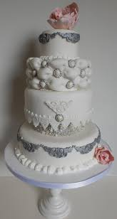 silver wedding cakes pink and silver wedding cake by candyknickerbocker on deviantart