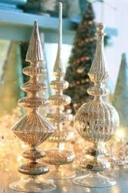 Blue Christmas Trees Decorating Ideas - finial tree toppers foter