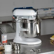 white kitchenaid 8 qt commercial mixer u0026 bowl guard ksmc895wh