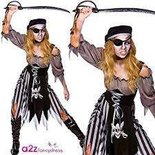 Dead Pirate Costume Halloween Zombie Cutthroat Pirate Ladies Zombies Costumes