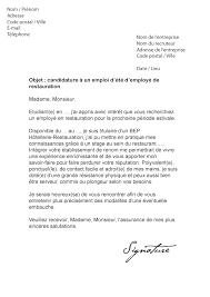 lettre de motivation cuisiner lettre de motivation d été restauration modèle de lettre
