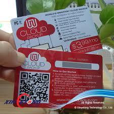 Business Card With Qr Code Standard Size Offset Print Unique Qr Code Barcode Plastic