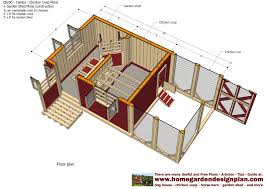 Floor Plans For Sheds by Home Garden Plans Cb200 Combo Plans Chicken Coop Plans