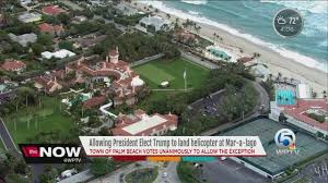 palm beach to allow trump to land helicopter youtube