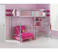 High Sleeper With Futon Buy Home Sit N Sleep Metal High Sleeper Futon Bed Frame Pink At