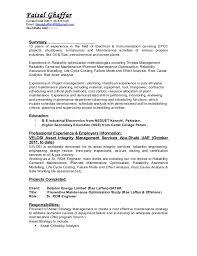 Failure Analysis Engineer Resume Reliability Engineer