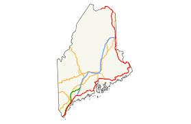 Map Maine U S Route 1 In Maine Wikipedia