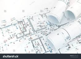 in apartment plans engineering project plans electric lights layout stock photo