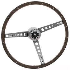 mustang steering wheels mustang woodgrain steering wheel kit with center cap 1965 1966