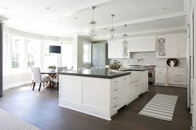 Black And White Kitchen Transitional Kitchen by White Kitchen Kitchen Design New Home Big Island Hardwood