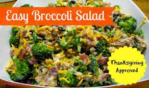 easy broccoli salad thanksgiving recipes potluck sidesalads i