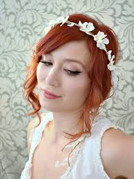 floral headpiece boho floral headpiece white flower crown wedding headban flickr