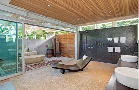 mid century modern bathroom design large bathroom design with sliding glass door in mid century
