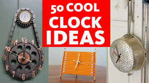 diy 50 crazy cool clock ideas youtube