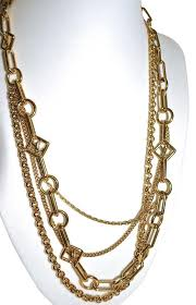 multi chain necklace images Louis vuitton gold collier vegas multi chain lv logo necklace jpg