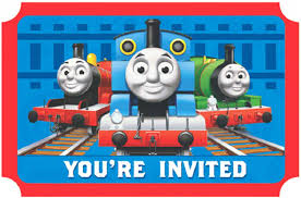 thomas the train invitations birthdayexpress com