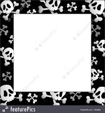 halloween frame illustration of frame with pirate skulls and bones