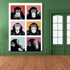 Home Decor Wall Paintings Online Get Cheap Monkey Paintings Aliexpress Com Alibaba Group
