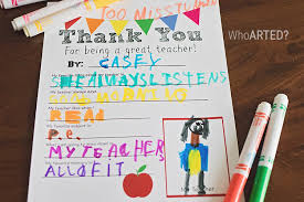 teacher appreciation thank you letter printable who arted