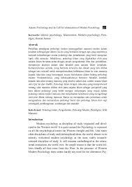 islamic psychology and the call for islamization of modern psychology u2026