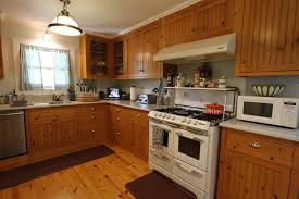 Kitchen Style Modern Cottage Kitchen White Kitchen Appliances - Medium brown kitchen cabinets