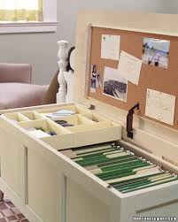 mini office in a chest how to storage benches extra seating and