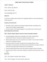 kinds of resume format sample english speech instructor resume template how to make a