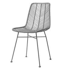 chaise tress e chaise design en rotin tressé gris bloomingville sur cdc design