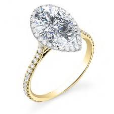 gold pear shaped engagement ring gold pear cut engagement rings