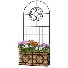 Walmart Planter Box by Achla Iron Lattice Panel Trellis Walmart Lattices And Trellis