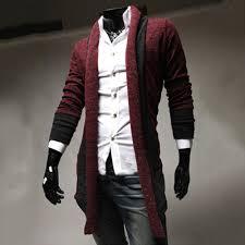 1601 mens shawl collar cardigan sweater korean version slim fit