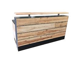 Buy Reception Desk Buy A Made 17 Pine Reclaimed Wood Reception Desk Or