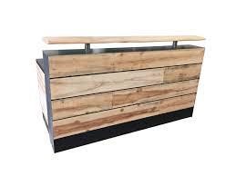 custom made reception desk buy a hand made 17 pine reclaimed wood reception desk or reclaimed