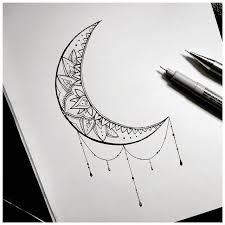 moon drawing on instagram tattoos moon