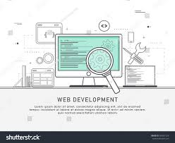one page web design template thin stock vector 389051524