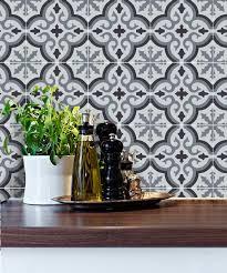 Tile Decals For Kitchen Backsplash Kitchen Bathroom Tile Decals Vinyl Sticker Marrakech Grey Tile
