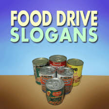 food drive slogans and sayings