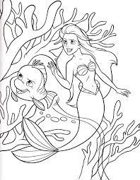 princess ariel small fish coloring pages
